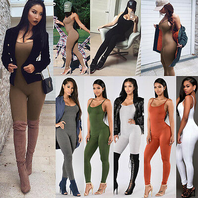 New Womens Ladies Clubwear Playsuit Bodycon Party Jumpsuit Romper Long Trousers