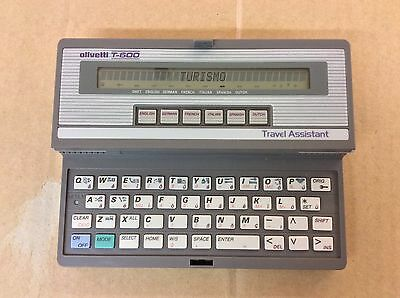 Olivetti T-600 Vintage Travel Assistant