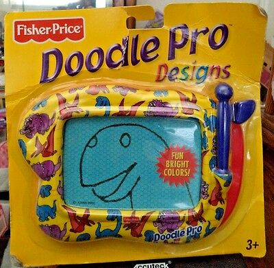 Fisher Price Doodle Pro Design Magnetic Drawing Screen Portable - Dinosaurs