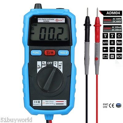 Digital Multimeter LCD Voltmeter DMM DC AC Current Meter Diode Continuity Tester