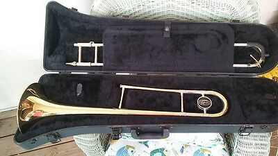 Selmer Bach Omega Trombone And Case   Plays Good Case Real Good