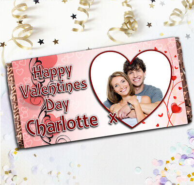 Personalised Valentines Day Love 114g Galaxy Chocolate Bar Wrapper Gift N5