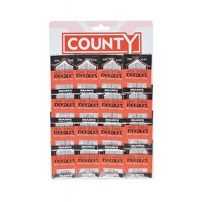 County D16 Sewing Needles Card of 16 Packs of 20