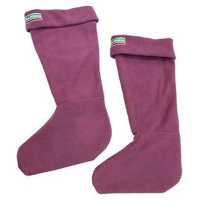 Town & Country TCL5161 Adult Boot Sox Aubergine 3-5 Small