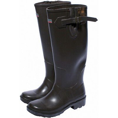 Town & Country TFW847 Premium Wellington Boots Chocolate Size 11