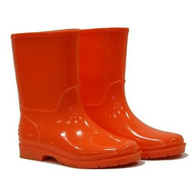 Town & Country TFW393 Kids Wellies Orange Size 1
