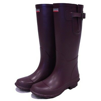 Town & Country TFW2558 Bosworth Aubergine Wellington Boots Size 8