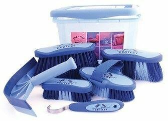Equestrian Horse Grooming Cleaning Brush Set Horse Grooming Brushes Kit Blue 7pc