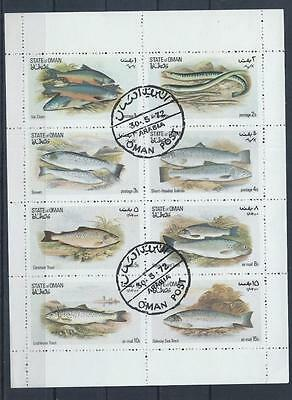 OMAN 1972 Fish Mini Sheet used CTO C#010