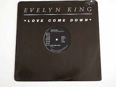 """EVELYN KING - LOVE COME DOWN 12"""" VINYL EX UK 1982 Original Boogie Classic"""