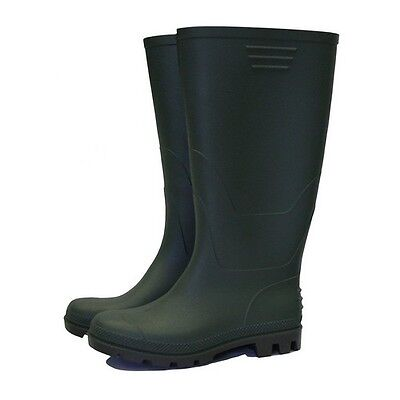 Town & Country TFW831 Essentials Half Length Wellington Boots Green UK Size 6