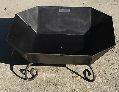 "26"" Square Hex Fire Pit Solid Steel  Wood Stove Usa Campfire, Outdoor Fprf03B"