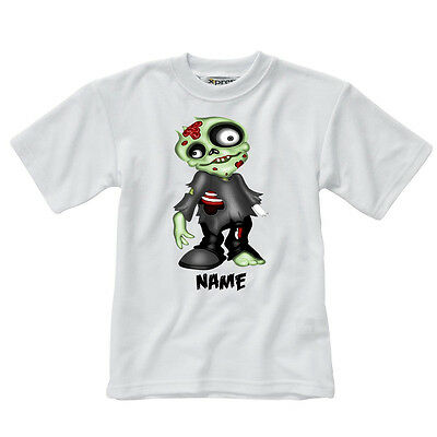 Personalised Children's T-Shirt - Zombies - Style 2