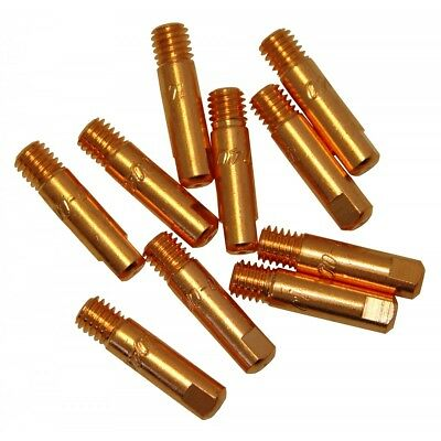 10pcs x MB15 Type Contact Tip 0.6mm - 1.2mm x 25mm M6 for MIG Welding