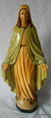french vintage Chalk Religious Sculpture- lady of grace?