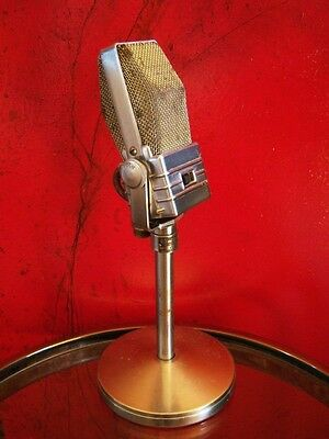 "Vintage 1940's Electro Voice V-1 ""Velocity"" Ribbon microphone old w 423A stand"