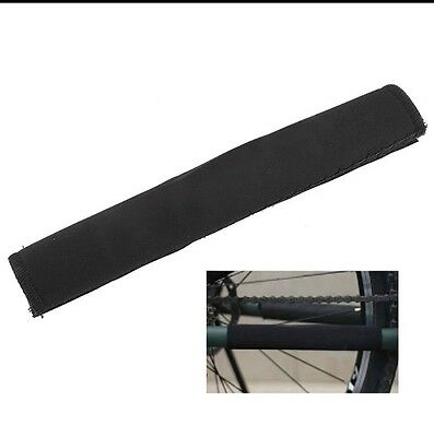 Bicycle Chain Protector | Bike Stay Guard Rear Chainstay Cycling Black Neoprene