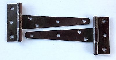 2 Vintage Steel T Strap Door Hinges