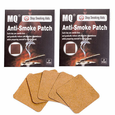 60 Patches MQ Stop Smoking Patch Herbal Nicotine Smoking Cessation Free Quit NEW