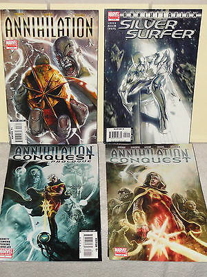 Marvel Comics ANNIHILATION 4 BOOK LOT # 3 SILVER SURFER 2 CONQUEST 1 PROLOGUE VF