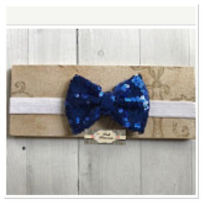 Royal Sequin Bow Baby Headband, Sparkle Bow Headband
