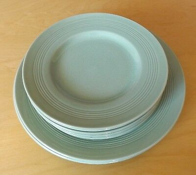 """Vintage Woods Ware BERYL (green) 7"""" plates - 7 AVAILABLE - side utility salad"""