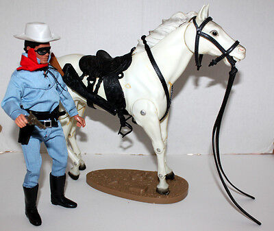 LONE RANGER GABRIEL w/HORSE SILVER COMPLETE 1973 TIGHT JOINTS