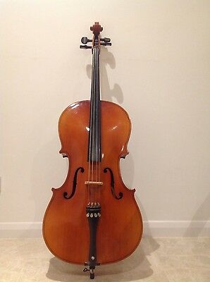 3/4 cello with soft case and bow