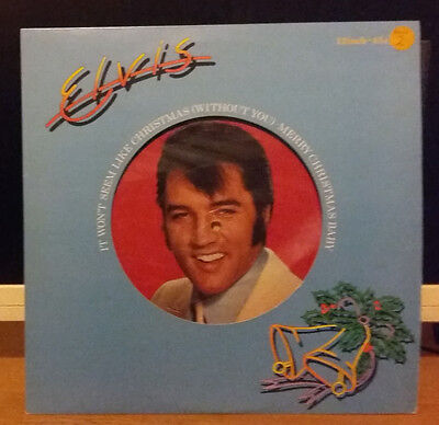 "Elvis Presley It Wont Seem Like Christmas (Without You) 12"" Picture Disc Rca Nm"