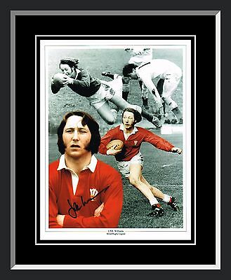 New JPR Williams Signed Framed Wales Rugby Photograph
