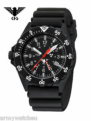 KHS Tactical Watches SHOOTER GMT H3 Analog Date Diver Light Men's KHS.SHG.DB