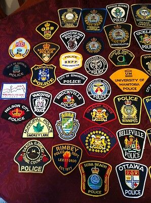 50 Lot Of Assorted Canada Police Patches