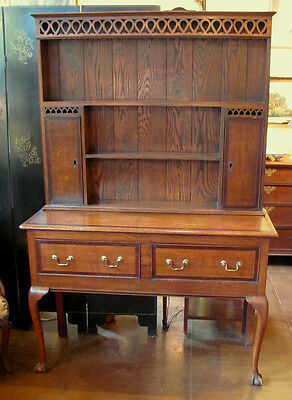 Antique English Oak Welsh Dresser Circa 1780