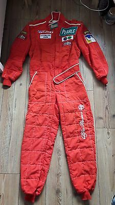 Alfa Romeo OMP  red suit Overalls , overall  Nomex fire resistant size 58