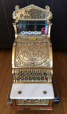 National Cash Register, Brass Model #313 1985 re-issue in MINT Condition