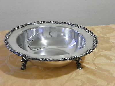 Footed Serving Bowl International Silver Co.