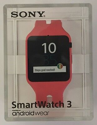 Sony SmartWatch 3 PINK SWR50 Android 4.3 NFC IP68 GPS SW3 Waterproof Open pack