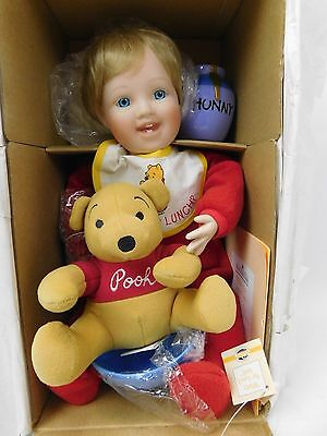 Ashton Drake Galleries Whats For Lunch Pooh Porcelain Doll Disney Collectable