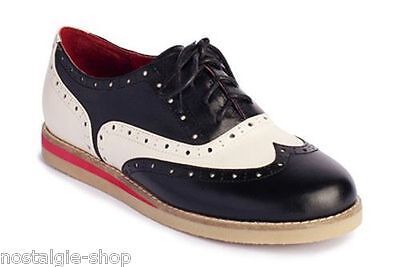 Lola Ramona CECILIA Saddle Shoes 50er retro Budapester Damen Bowling Schuhe Lady