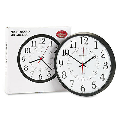 Alton Auto Daylight Savings Wall Clock, 14'', Black