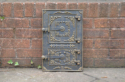 28.5 x 43.8 cm cast iron fire door clay bread oven door pizza stove smoke house
