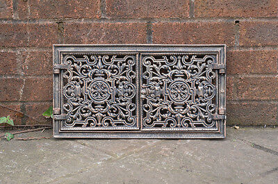44.5 x 24.5 cm cast iron fire door clay bread oven door pizza stove smoke house