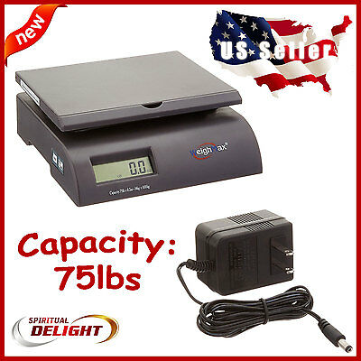 75 lbs Digital Postal Scale Electronic Postage Scales Mail Letter Package USPS