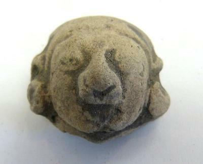 Pre-Columbian Mexican Clay Head - Mayan - Ex Mcintyre Collection (Ah)