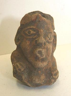 Pre-Columbian Mexican Clay Figural Whistle - Mayan - Ex Mcintyre Collection (Ah)
