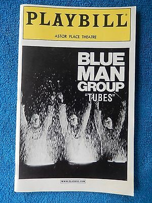 """Blue Man Group """"Tubes"""" - Astor Place Theatre Playbill w/Ticket - July 7th, 2001"""