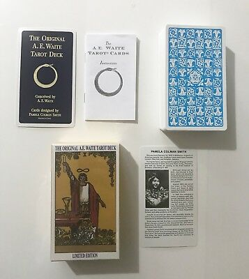 Rider A.E.Waite Original Tarot Cards NEW & SEALED++FREE VELVET POUCH++