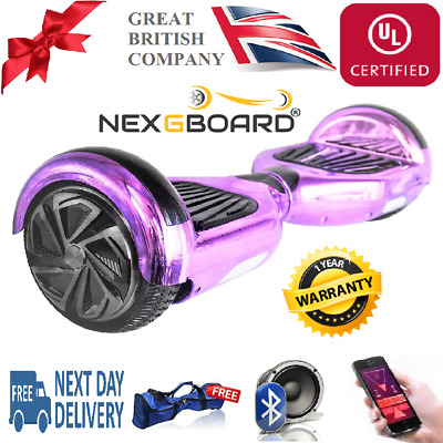 "6.5"" Swegway Hoverboard Electric Balance Hover Board in Chrome Gold Purple Pink"