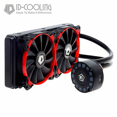 ID-COOLING FrostFlow 240L Red LED CPU Liquid Cooler[FROSTFLOW 240L-R] AU STOCK