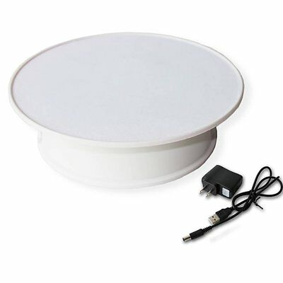 Stylish White Velvet Top Electric Motorized Rotary Rotating Display Turntable